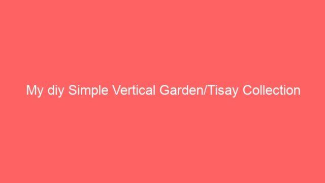My diy Simple Vertical Garden/Tisay Collection