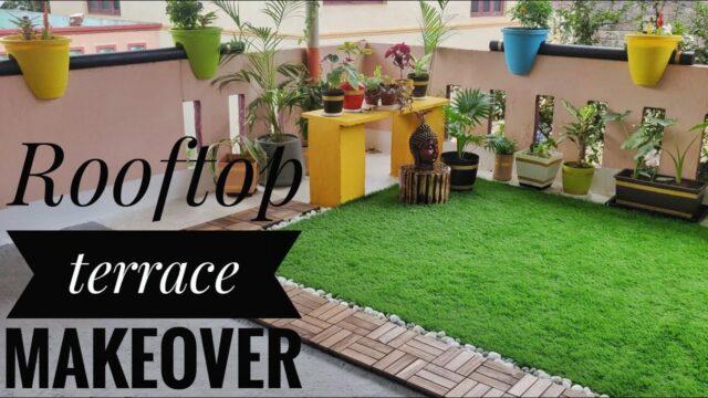 Rooftop Terrace Garden Transformation | Terrace Makeover | DIY Ideas | Small garden design.