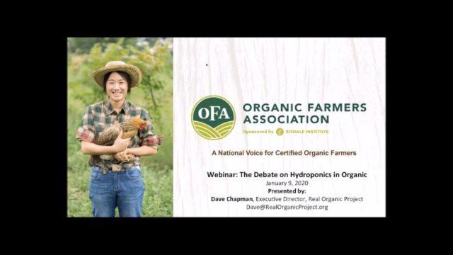 Webinar: The Debate on Hydroponics in Organic
