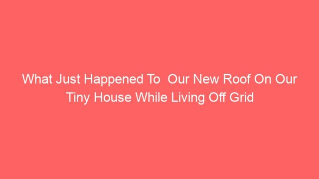 What Just Happened To  Our New Roof On Our Tiny House While Living Off Grid