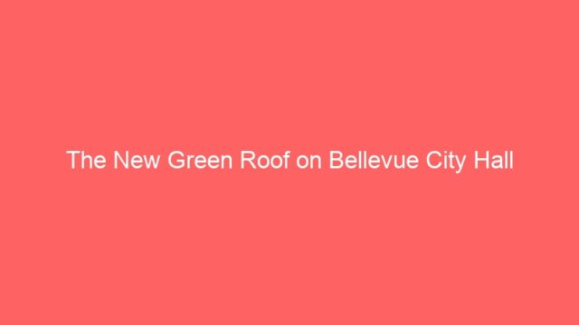 The New Green Roof on Bellevue City Hall