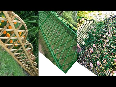 DIY Fence Garden ideas From Bamboo || Creative Hanging Planter Ideas || Bamboo Decoration ideas