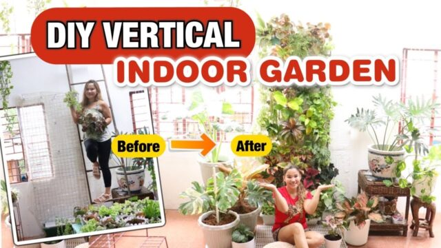How to build an Indoor DIY VERTICAL GARDEN wall | Lovekye 8
