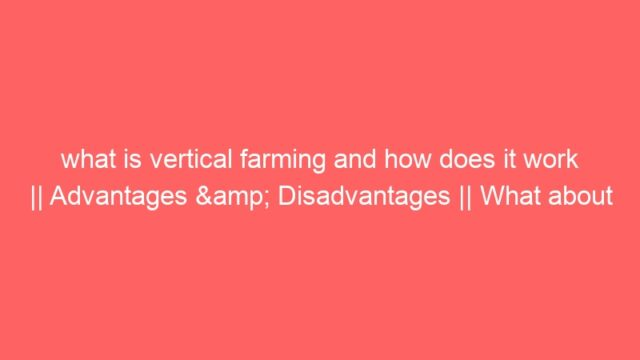 what is vertical farming and how does it work || Advantages & Disadvantages || What about FARMERS???