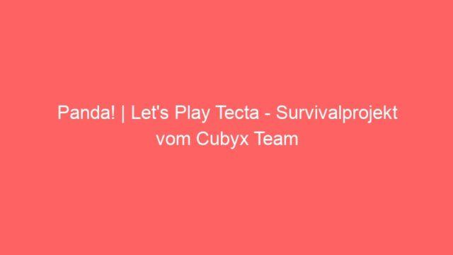 Panda!   Let's Play Tecta – Survivalprojekt vom Cubyx Team