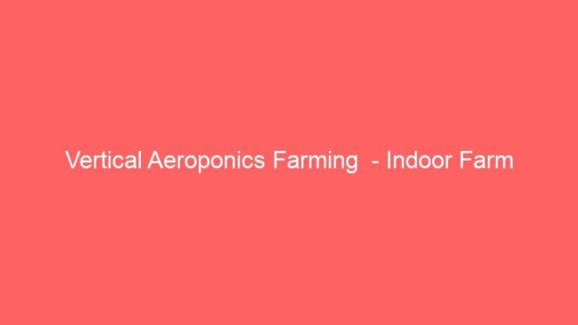 Vertical Aeroponics Farming  – Indoor Farm