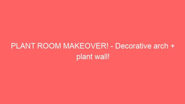 PLANT ROOM MAKEOVER! – Decorative arch + plant wall!