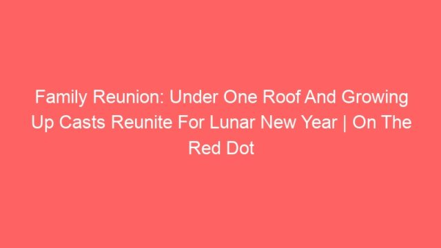 Family Reunion: Under One Roof And Growing Up Casts Reunite For Lunar New Year | On The Red Dot