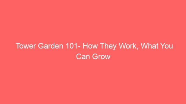 Tower Garden 101- How They Work, What You Can Grow