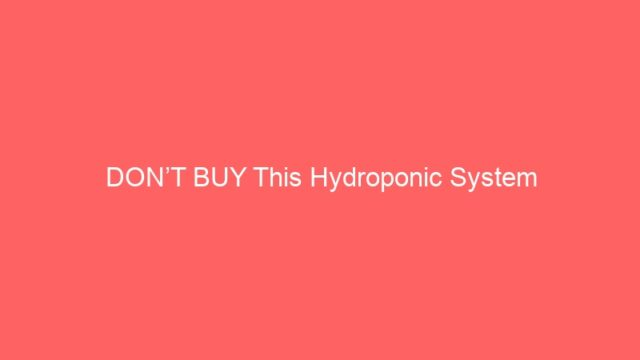 DON'T BUY This Hydroponic System