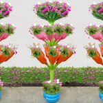 Incredible Tower Garden Ideas with PVC Pipes and Plastic Bottles For Front Yard