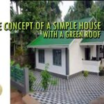 the concept of a simple house with a green roof