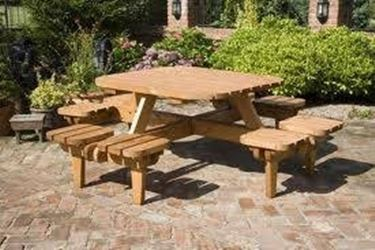 wooden outdoor table