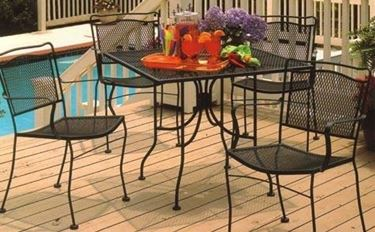 wrought iron outdoor table