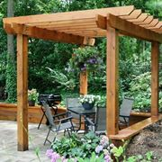DIY wood pergola