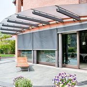 Example of steel and glass canopy
