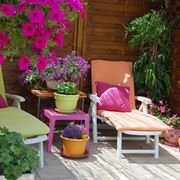flowered terrace