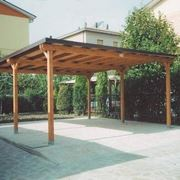 Fixed wooden canopy