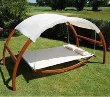 rocking chair for garden in wood