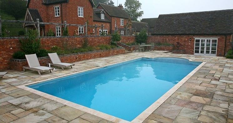 Flooring for pool edges