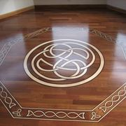 Wooden floor with decorations