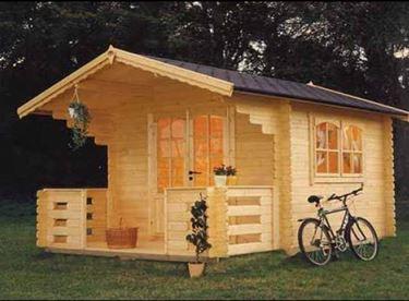 Garden wooden houses
