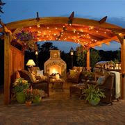 a welcoming and perfectly furnished pergola