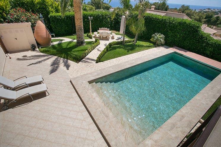 Poolside floor