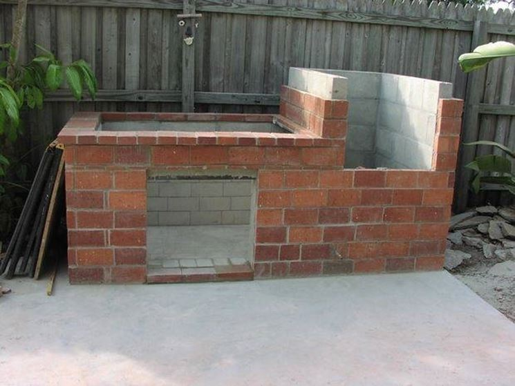 DIY masonry barbecue almost completed.