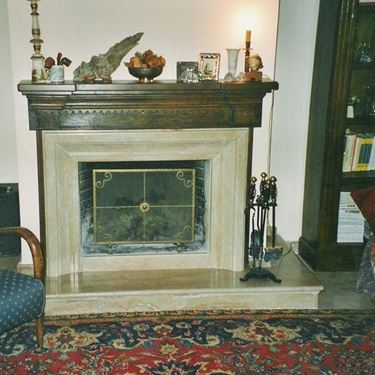 LeMarble prefabricated fireplace