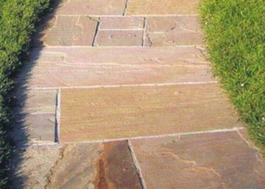 garden paving with natural stones