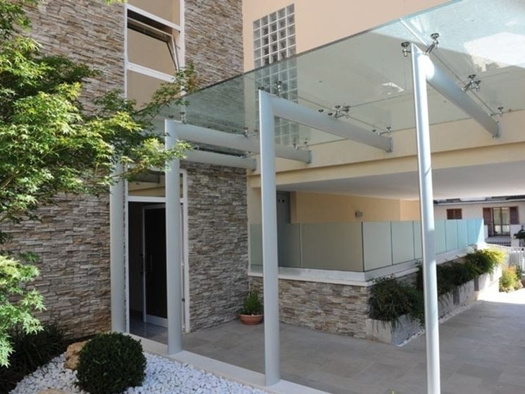 glass canopy building