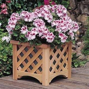 wooden terrace vases