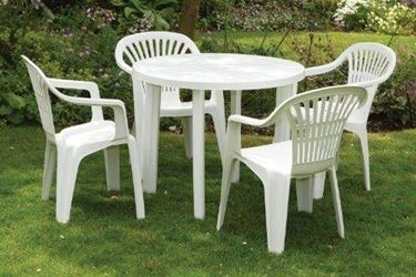 """Plastic garden table   <p />"""" width=""""375″ height=""""250″ longdesc=""""/arredo-giardino/tavoli-e-sedie/tavoli-da-giardino-plastica.asp""""/>Once the most frequently used colors were white and green, today there are many other colors and above all there are tables with many and various decorations that give an extra touch to the aesthetics of the table itself.</p> <p>The shapes can be square or with rounded corners, the choice depends on our taste and also on our space needs.If you plan to often host friends, it is worth buying a large table, as even if plastic has many positive characteristics, however , there are no extendable plastic tables;  if, on the other hand, it is only for your family, the small tables are also very beautiful.  It would be ideal to buy both the table and the chairs at the same time, in order to have a completely matched set.If you think you do not have enough space for a large table to welcome all your friends to the table, as we have already said that there are no tables of this type extendable, you can also opt for the purchase of two tables, so that you can use them both, both together and separated, when there are many friends, or you can use only one if you need it for a family lunch or dinner .   </p> <p>It is not difficult to realize how today plastic is really used on a large scale, there are many furnishing elements made of plastic.</p> <p>Today plastic is used with a different process that makes it almost indestructible.  Small impacts do not cause any damage to the plastic, it would take very strong pressures to cause real damage.This type of material can be combined well with other types of furniture, therefore it is absolutely forbidden to choose plastic objects and objects that are made of other materials. the aesthetics will not suffer any damage. </p> <div itemprop="""