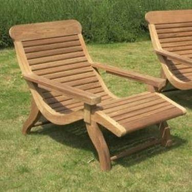 wooden garden chair