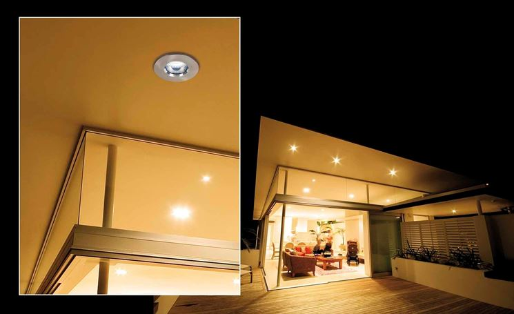Recessed spotlights for outdoors