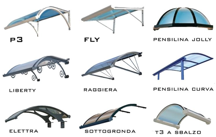 Different models of shelters.