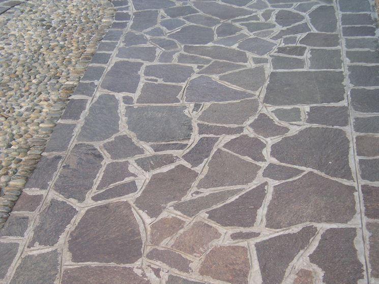 Porphyry outdoor flooring