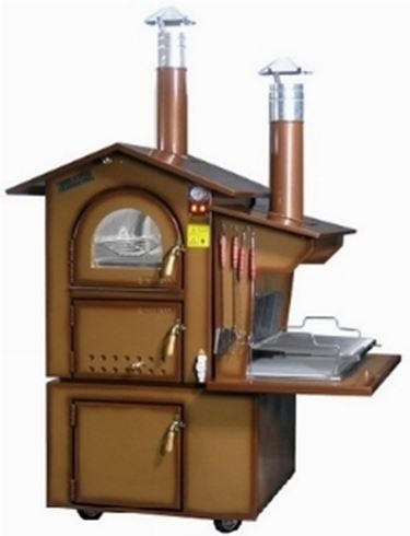 wood-burning oven for the garden