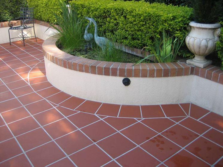 Outdoor terracotta flooring