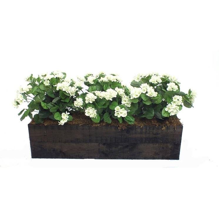 Dark wood planter