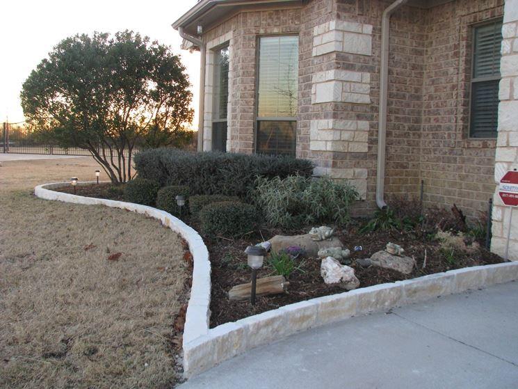 stone flowerbed