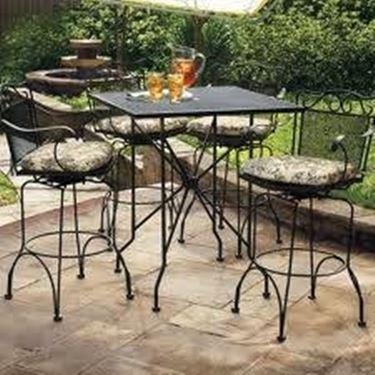 Wrought iron garden tables