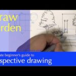 Draw a garden design [one point perspective]
