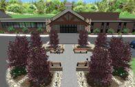 Commercial Building Entrance-3D Landscape Design