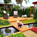 Garden furniture for landscape design.  45 beautiful examples!